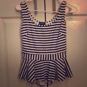 Striped Bebe top!
